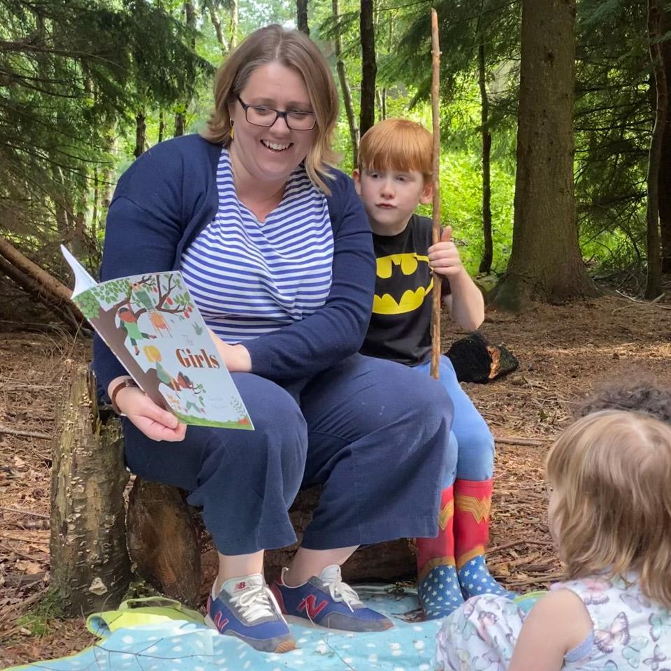 Wendy reading books for children
